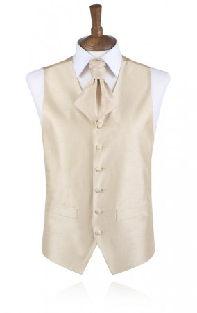 Gold Poly Dupion Waistcoat