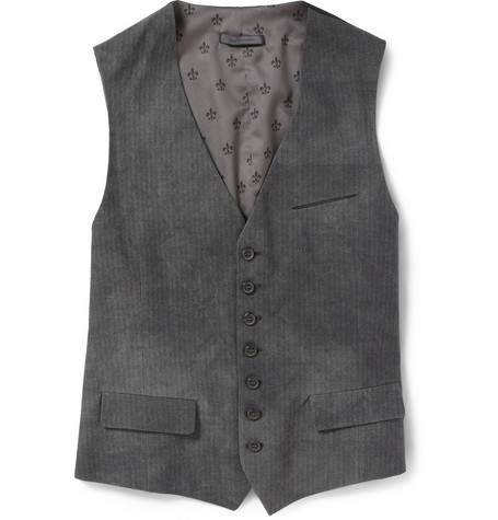 Herringbone Cotton-Blend Waistcoat