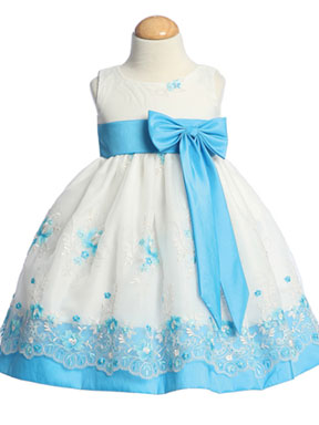 Pink and White special occasion dresses for baby girls
