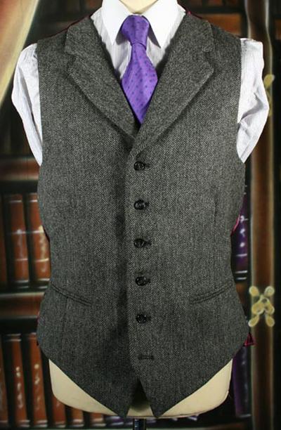Mid Grey Lapelled Waistcoat