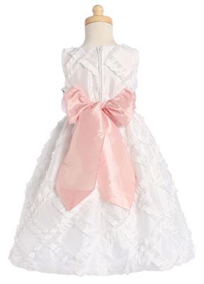 Pink Taffeta Ribbon Dress