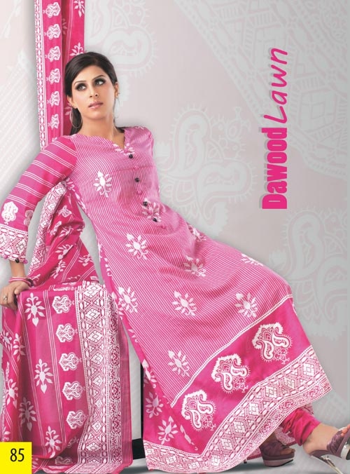 Shocking Pink Cotton USA Lawn Collection