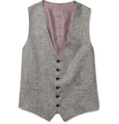 Tweed Wool Suit Waistcoat