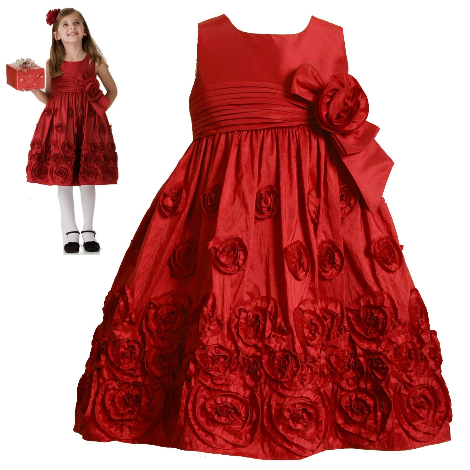 Flower special occasion dresses for girls