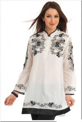 White kurti designs in USA