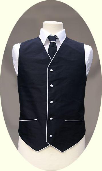 black waistcoat piping