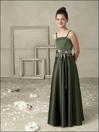 Green Special Occasion Dress Girls Skirt