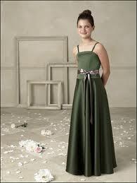 Green Special Occasion Dress Girls Skirt
