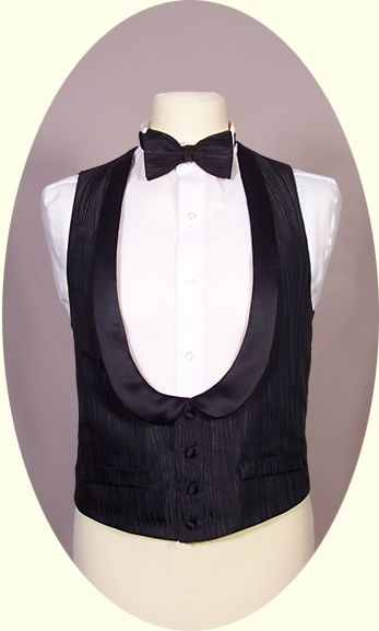 black single waistcoat