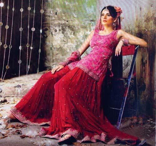 Bridal sharara style