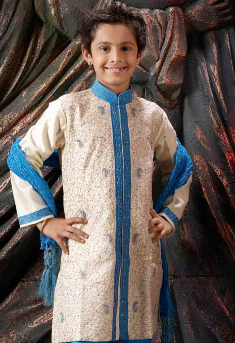 White sherwani styles children