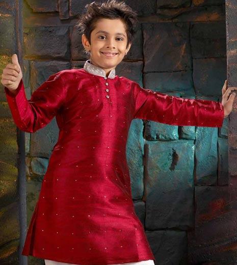 Red Children sherwani Design