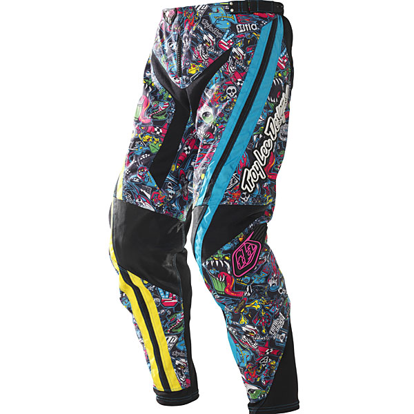 2010 Troy Lee Designs Youth GP History Pants Multicolor