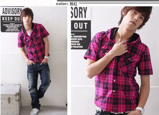 cap shirt style grid plaid shirt