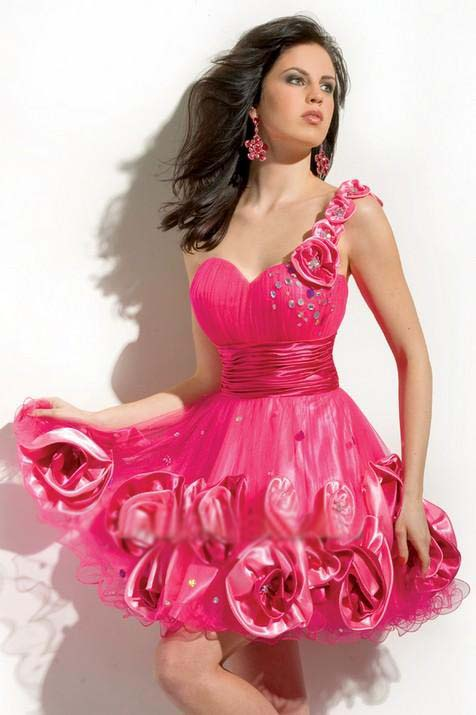 Dark Pink special occasion dresses 2012