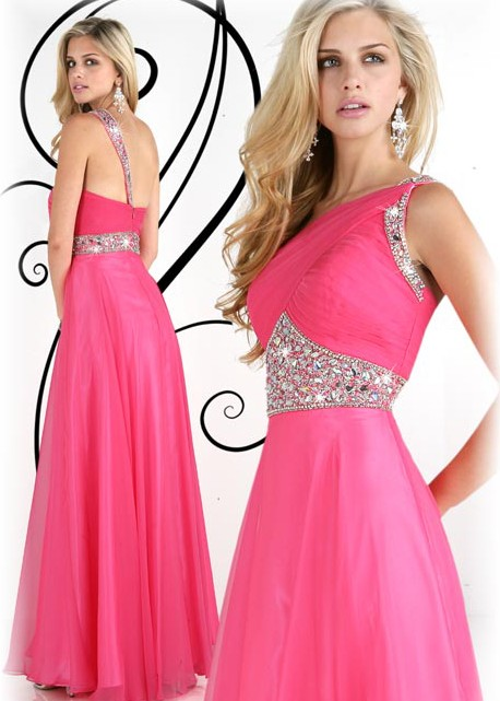 Romantic One Shoulder Special Occasion Dress Style