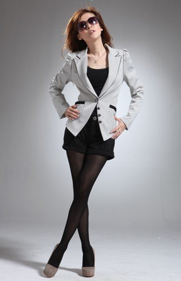 2012 new style lady suit shape waist figure flattering women