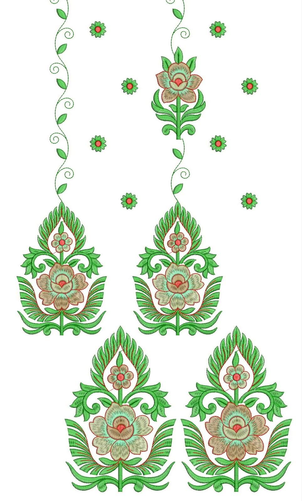 250 area top daman embroidery design
