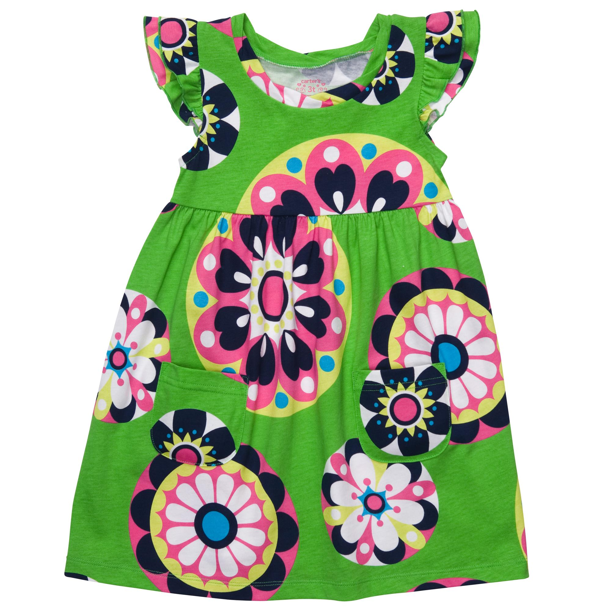 Green children dress