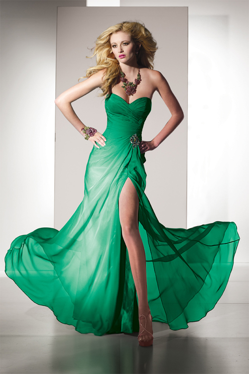 green designer special occasion dresses