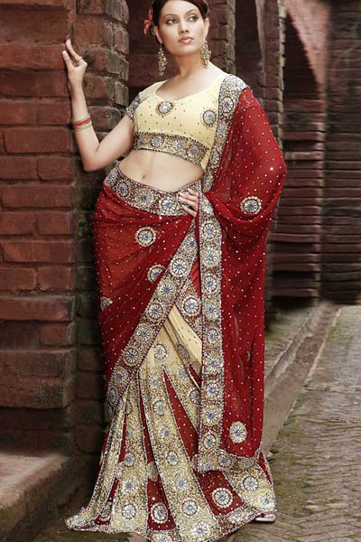 Attractive Lehenga Style Saree
