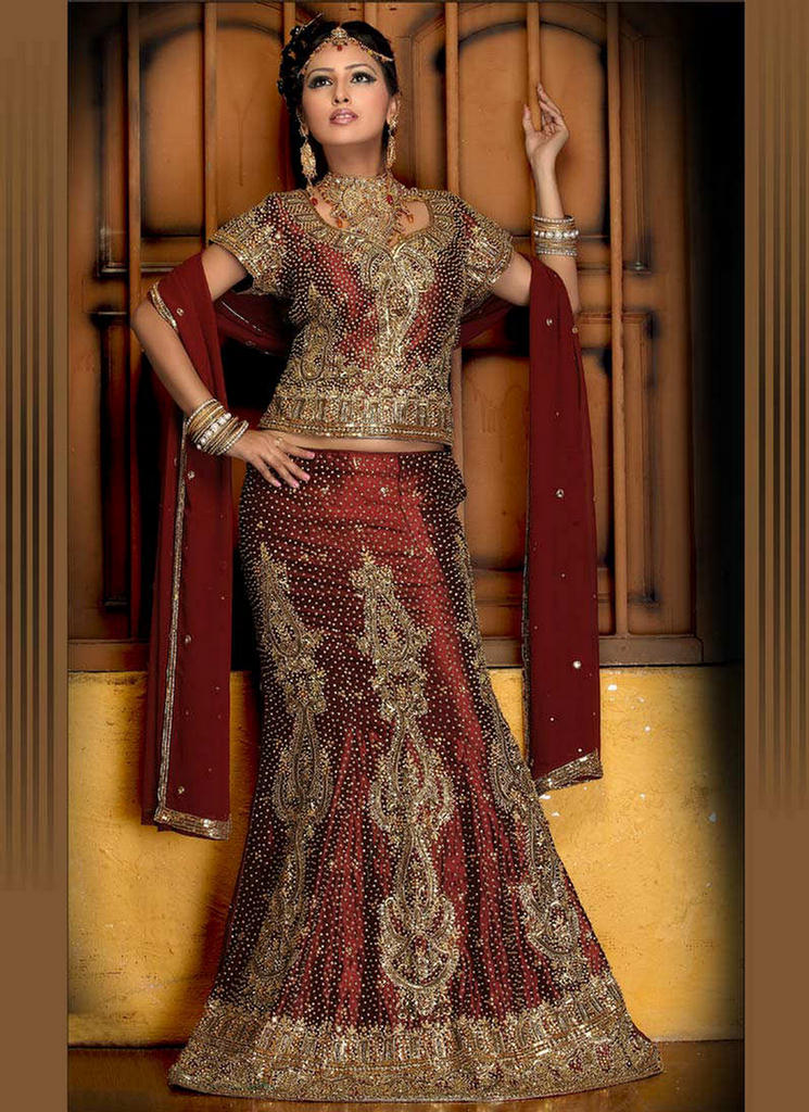 Beautiful Fish Cut Lehenga Styles 2011