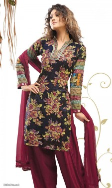 Beautiful Printed Salwar Kameez 2012 casual dress