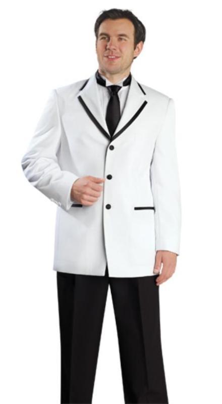 Black White Combination Suits For Men