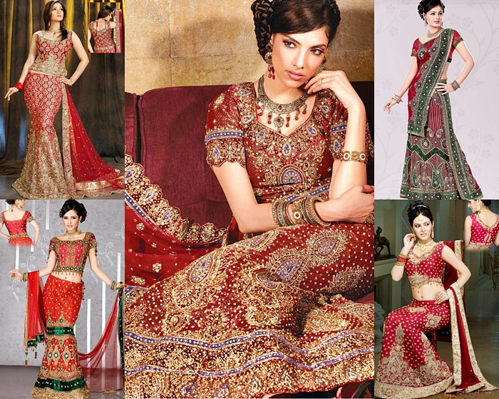 Bridal Red Lehenga Designs