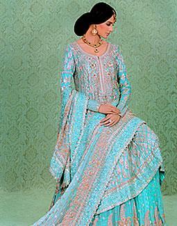 Bridal Turquoise Candice Sharara