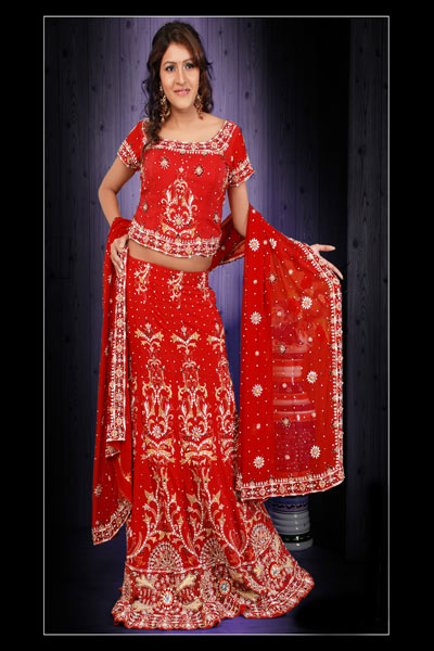 Bright Red Lehenga Choli