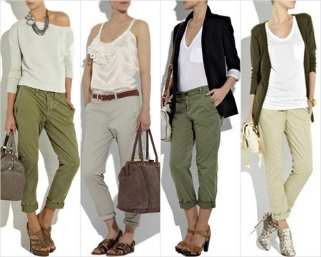 Chino Pants for Women New Spring Summer 2012 Fashion Trend