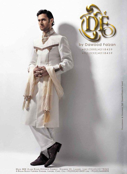Dawood Faizan Kurta and Sherwani Designs For men 2012