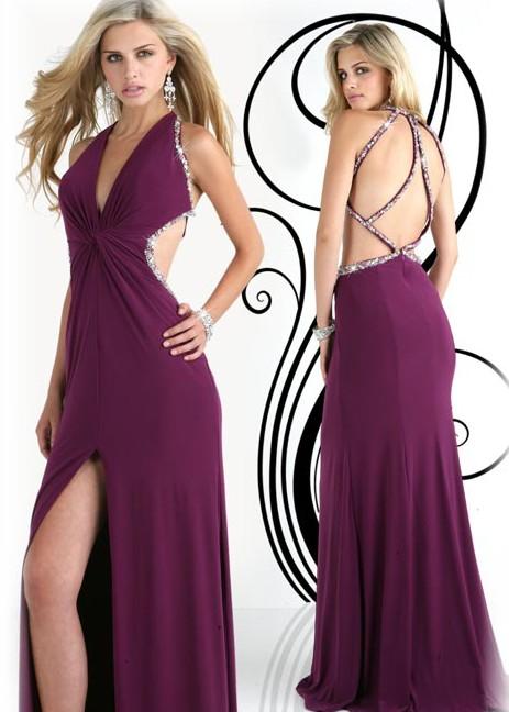 Deep V Neckline Sexy 2012 Special Occasion Dress