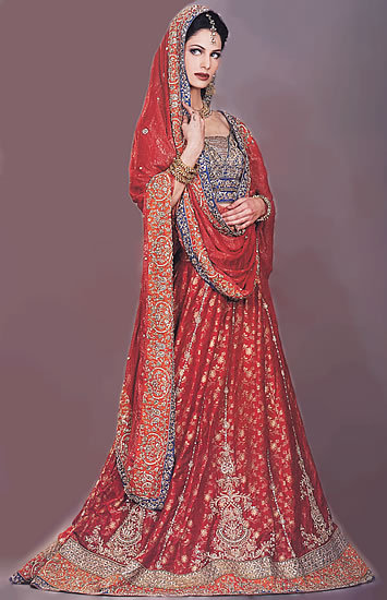 Designer Red Lehenga