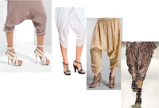 Footwear to wear with dhoti pants