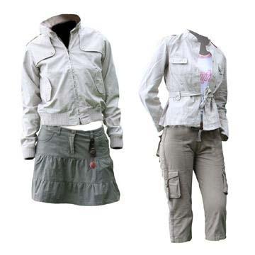 Girls Jacket and Pants Skirt