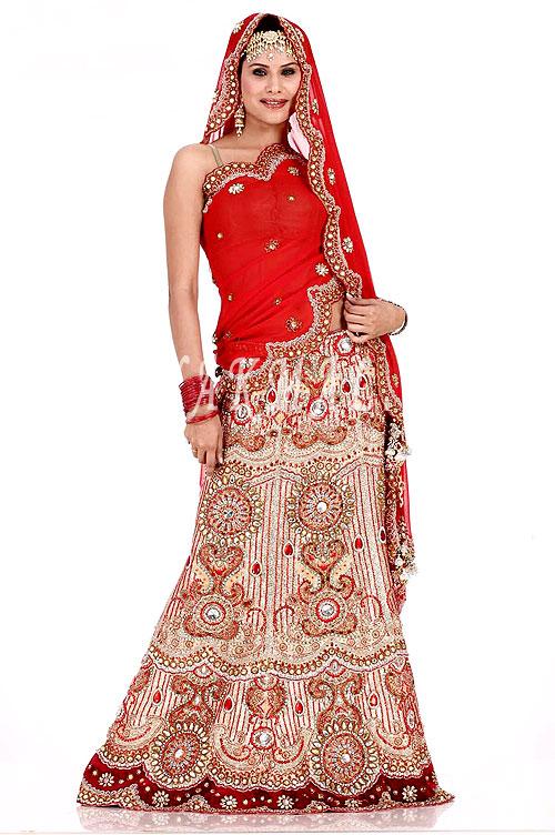 Indian Bridal Lehenga Choli Design 2011