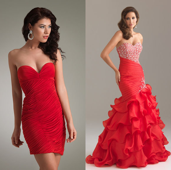 Jasz Couture Style Red Strapless Sweetheart Cocktail Dresses 2012