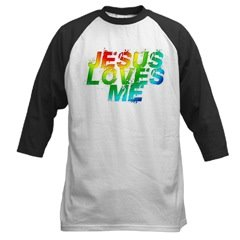 Jesus Loves Me Rainbow Christian T-shirt
