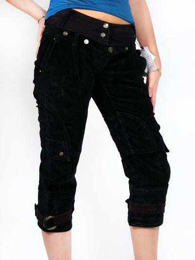 Cavalli Velvet Capri Jeans For Women Black