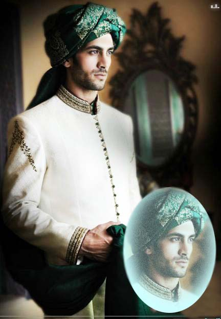 Latest Sherwani Collection 2012 for Men by Amir Adnan