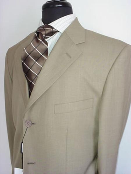 Mens Tan Mens Single Breasted Discount Dress