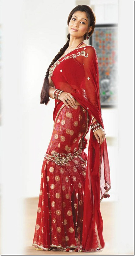Red Hot Saree Design