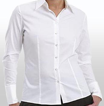 White Formal Shirts For Girls