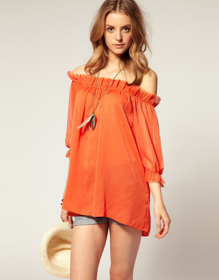 Off Shoulder Shirts For Girls