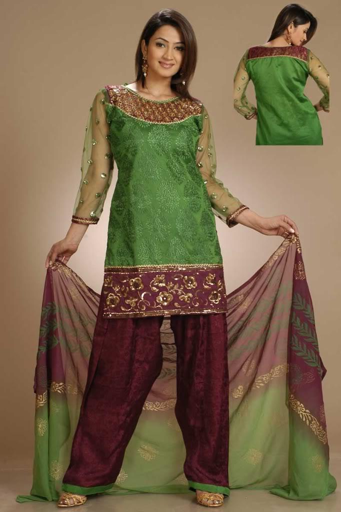 Pakistani Green Salwar Kameez
