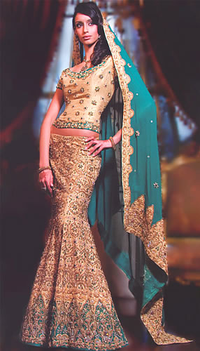 Raw Silk Sharara - Pakistani Bridal Dress 2012