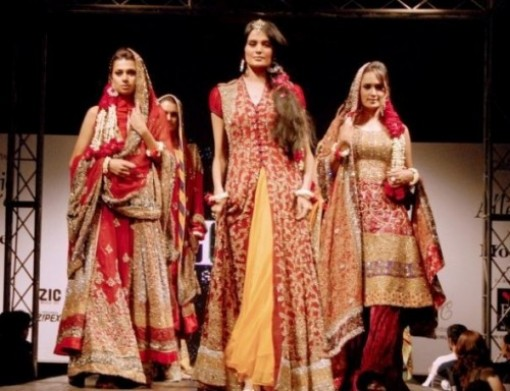 Red Lehnga Designs 2012