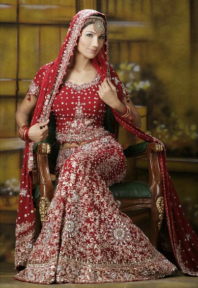 Red Lehnga with Duppata